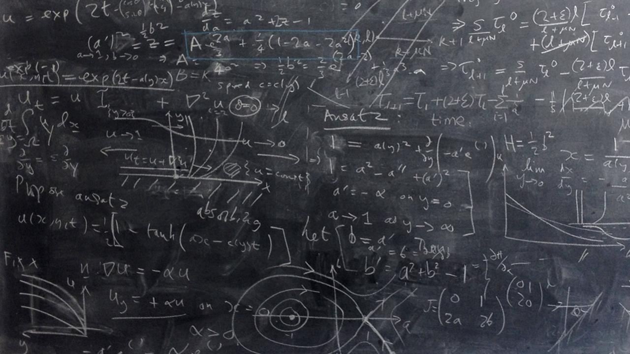A mathematician's blackboard