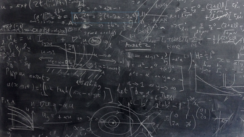 A mathematician's blackboard