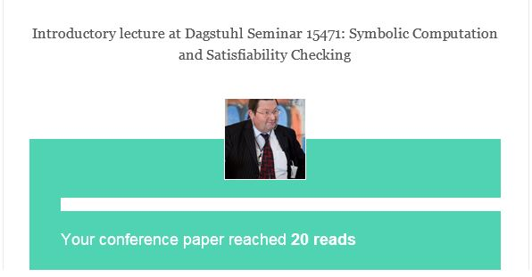 Dagstuhl slides with 20 reads